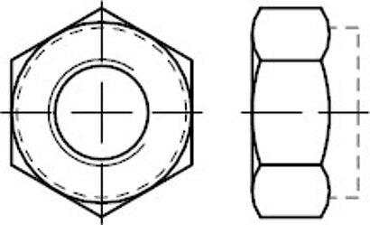 DIN 985 8 (<=M 5 = 6–8 ) galvanisch verzinkt Sechskantmuttern mit Klemmteil