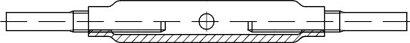 DIN 1478 Stahl SP-AE galvanisch verzinkt Spannschlösser aus Stahlrohr