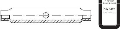 DIN 1478 Stahl SP galvanisch verzinkt, ÜZ Spannschlossmuttern aus Stahlrohr