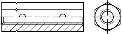 DIN 1479 Stahl galvanisch verzinkt Sechskant-Spannschlossmuttern