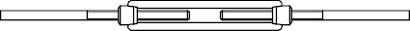 DIN 1480 A 2 SP-AE Spannschlösser geschmiedet, offene Form, mit 2 Anschweißenden