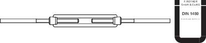DIN 1480 Stahl SP-AE galvanisch verzinkt Spannschlösser mit 2 Anschweiß.