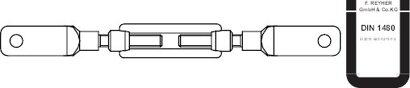 DIN 1480 Stahl SP feuerverzinkt ÜZ Spannschlossmuttern geschmiedet offene Form