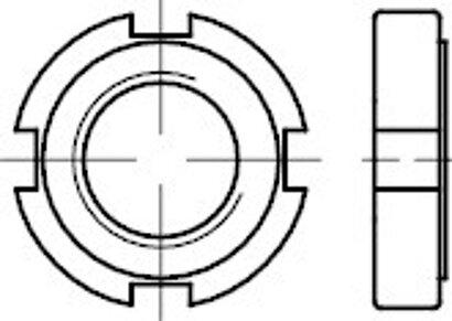 DIN 1804 04 AU Ausf. w Nutmuttern, ungehärtet, ungeschliffen