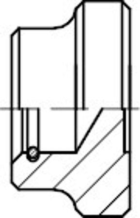 DIN 6311 Stahl Form S Druckstücke, mit Sprengring