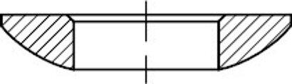 DIN 6319 Stahl Form C Kugelscheiben, einsatzgehärtet