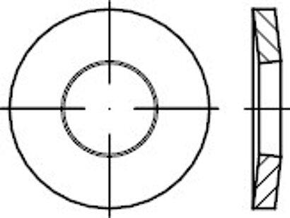DIN 6796 Federstahl phosphatiert Spannscheiben für Schraubenverbindungen