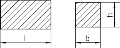 DIN 6880 Stahl C45+C Keilstahl quadratisch
