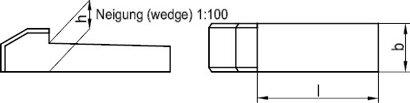 DIN 6887 Stahl C45+C Nasenkeile