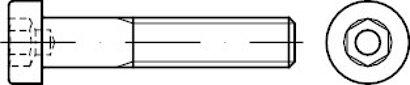 DIN 6912 Stahl 10.9 galvanisch verzinkt Zylinderschrauben mit Innensechskant