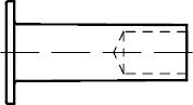 100 Nieten DIN 7338 Kupfer Form B 4x8