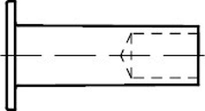 DIN 7338 Kupfer Form B Niete für Brems- und Kupplungsbeläge, Halbhohlniete