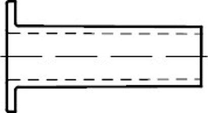 DIN 7338 Kupfer Form C Niete für Brems- und Kupplungsbeläge, Hohlniete