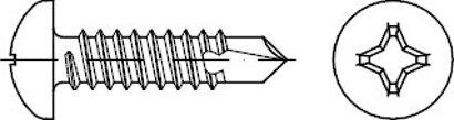 DIN 7504 Stahl Form N-H galvanisch verzinkt Bohrschrauben Linsenkopf