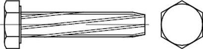 DIN 7513 Stahl Form A galvanisch verzinkt Sechskant-Schneidschrauben