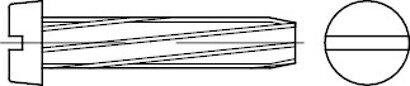 DIN 7513 Stahl Form B galvanisch verzinkt Zylinder-Schneidschrauben