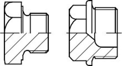 DIN 7604 Stahl Form A galvanisch verzinkt Verschlussschrauben mit Bund und Ask.