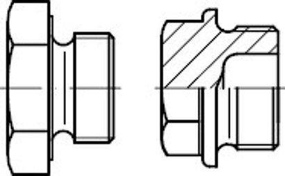 DIN 7604 Stahl Form A Verschlussschrauben mit Bund und Ask. mit zyl. Fein-Gew.