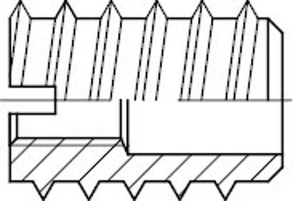 DIN 7965 Messing Einschraubmuttern RAMPA (Schraubdübel)