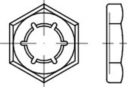 DIN 7967 Federstahl galvanisch verzinkt Sicherungsmuttern (Palmuttern)