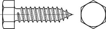 ISO 1479 A 2 Form C Sechskant-Blechschrauben, C = mit Spitze