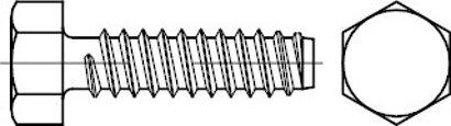 ISO 1479 Stahl, geh. Form F galvanisch verzinkt Sechskant-Blechschrauben