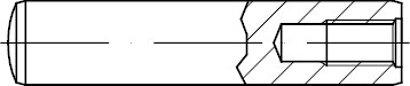 DIN 7979 Stahl Form D/m 6 Zylinderstifte m.Innengewinde gehärtet Toleranzfeld m6