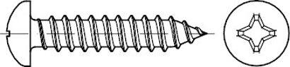 DIN 7981 A 2 Form C-H Linsen-Blechschrauben