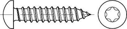 DIN 7981 Stahl Form C-ISR galvanisch verzinkt Linsen-Blechschrauben