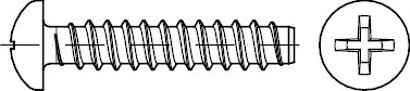 DIN 7981 Stahl Form F galvanisch verzinkt Linsen-Blechschrauben