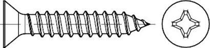 DIN 7982 A 2 Form C-H Senk-Blechschrauben