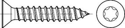 DIN 7982 Stahl Form C-ISR galvanisch verzinkt Senk-Blechschrauben mit Spitze