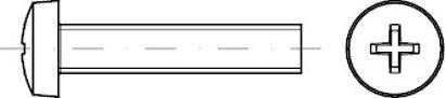 DIN 7985 Stahl 4.8 H galvanisch vz Linsenschrauben mit Phillips-Kreuzschlitz H