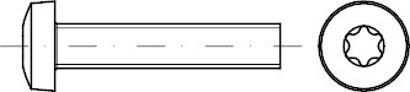 DIN 7985 Stahl 4.8 ISR galvanisch verzinkt Linsenschrauben mit Innensechsrund