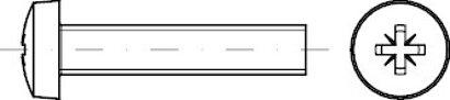 ISO 7045 Stahl 4.8 Z galvanisch vz Linsenschrauben mit Pozidriv-Kreuzschlitz Z