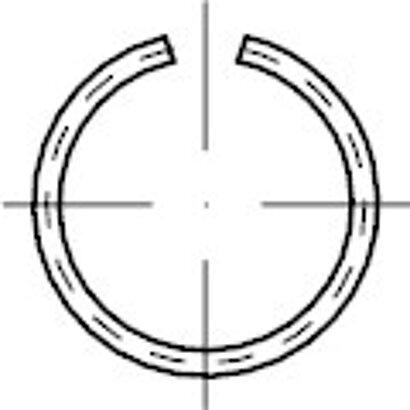 DIN 7993 Federstahl Form A Runddraht-Sprengringe für Wellen