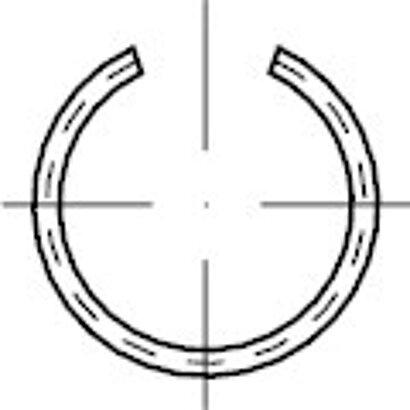 DIN 7993 Federstahl Form B Runddraht-Sprengringe für Bohrungen