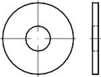 DIN 9021 Stahl 140/100 HV galv. verz. Scheiben, Außen Ø ~3 x Schrauben Ø