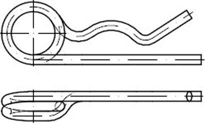 DIN 11024 Stahl galvanisch verzinkt Federstecker