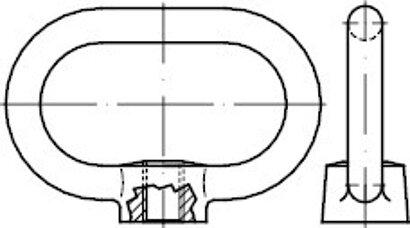 DIN 28129 C35E AD W7 galvanisch verzinkt Bügelmuttern