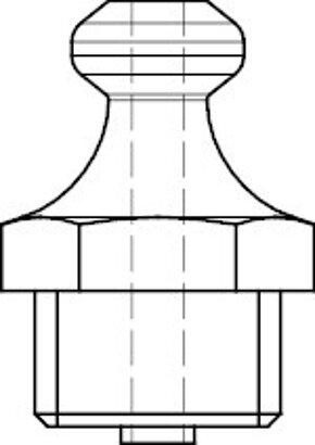 DIN 71412 Stahl 5.8 Form A-R galvanisch verzinkt Kegelschmiernippel, kurz