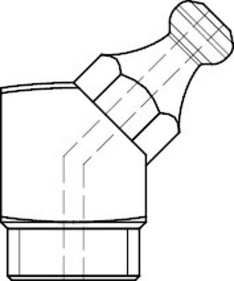 DIN 71412 Stahl 5.8 Form B-M galvanisch verzinkt Kegelschmiernippel, kurz