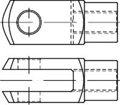 DIN 71752 Stahl Form G galvanisch verzinkt Gabelgelenke, für Federklappbolzen