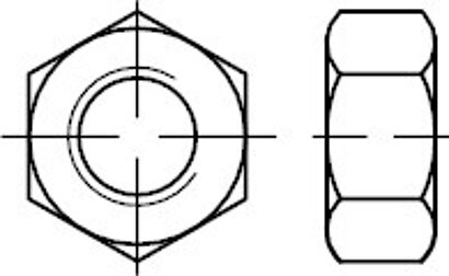 ISO 4032 10 Sechskantmuttern, ISO-Typ 1