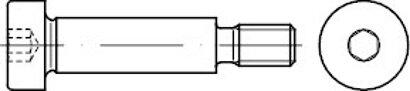 ISO 7379 A 2 f9 Pass-Schulterschrauben, Schaftpassung f9