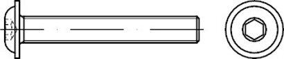 ISO 7380-2 Stahl 10.9 galvanisch verzinkt Flachkopfschrauben