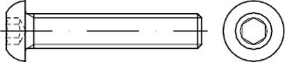 ISO 7380-1 Stahl 10.9 galvanisch verzinkt Flachkopfschrauben mit Innensechskant