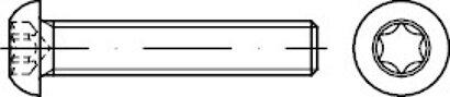 ISO 7380-1 Stahl 10.9 ISR galvanisch vz Flachkopfschrauben, mit Innensechsrund