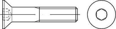 ISO 10642 Stahl 8.8 galvanisch verzinkt Senkschrauben mit Innensechskant