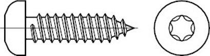 ISO 14585 Stahl, geh. Form C galvanisch verzinkt Flachkopf-Blechschrauben